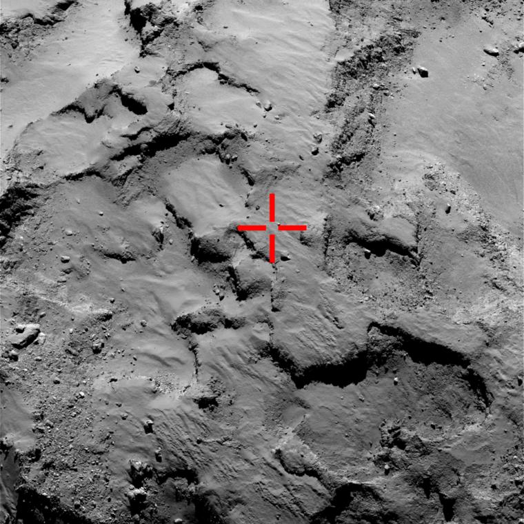 A Rosetta keresőkamerájával próbálják bemérni a leszállóegység pontos helyét