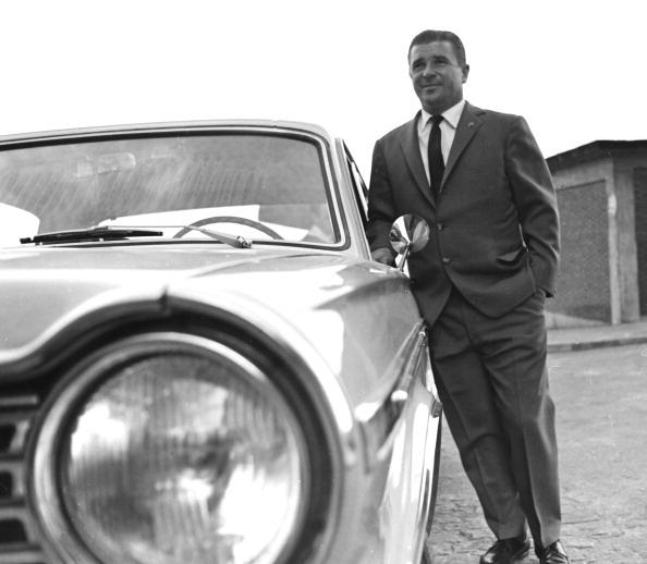 Puskás Öcsi Fiatja mellett. 1966, Madrid