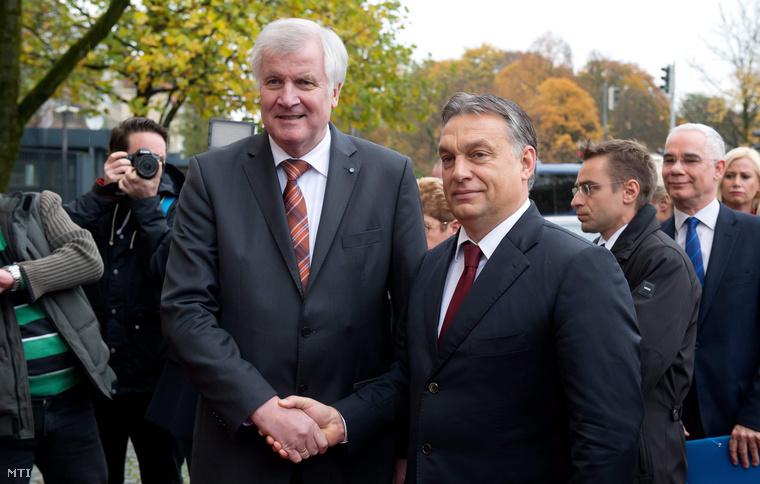 Orbán Viktor és Horst Seehofer Münchenben