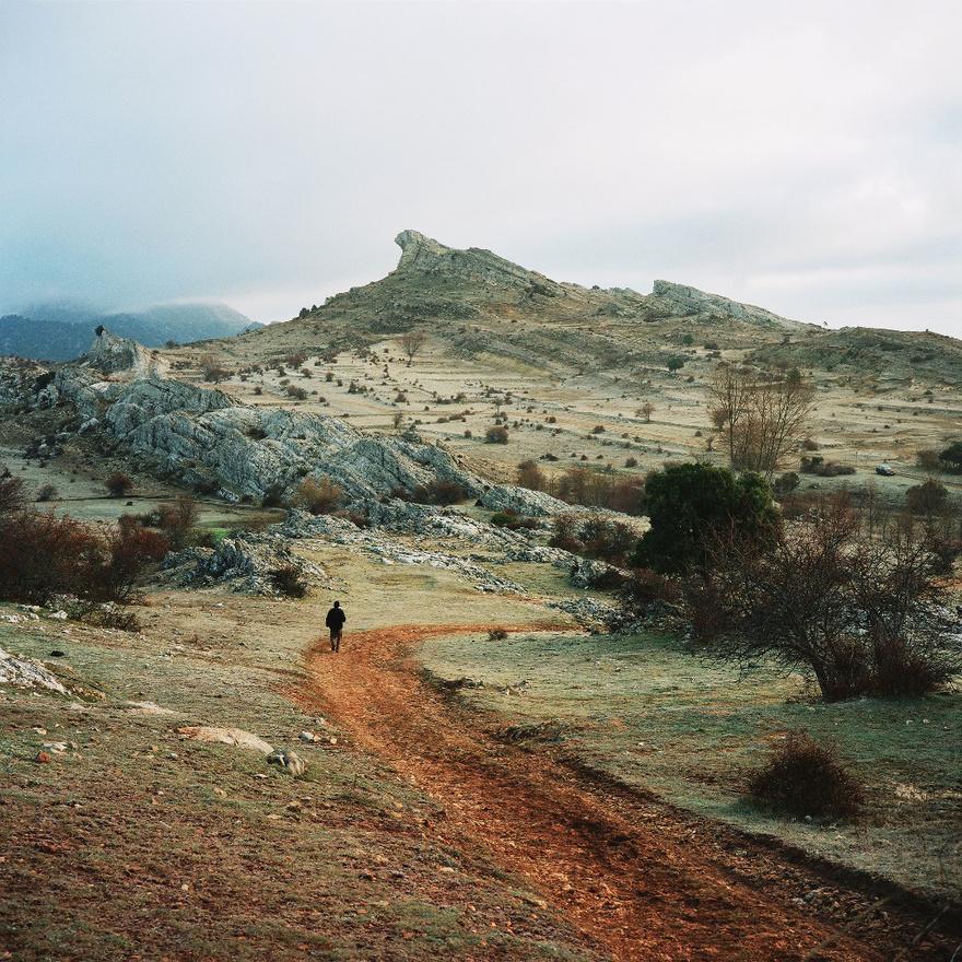 Kilátás az El Pardal nevű falucskára. Sierra de Cazorla, Spanyolország, 2013.