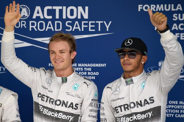 Nico Rosberg és Lewis Hamilton