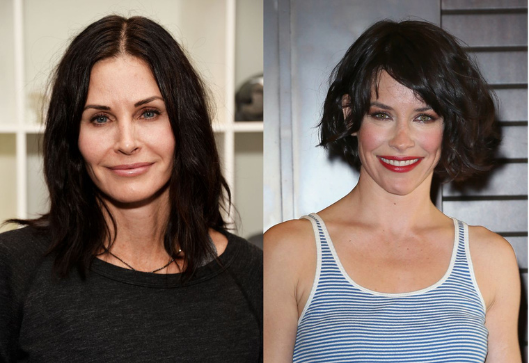 Courteney Cox és Evangeline Lilly