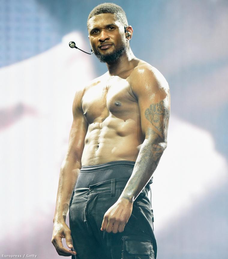 Usher a színpadon Los Angelesben