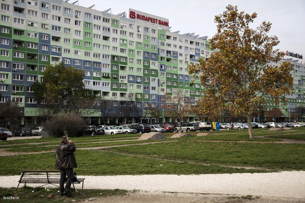 """A régi Szőlőkert utca a hatvanas évekig létezett, ma már nincs nyoma. Helyén unalmas zöldterület lett, a nem túlságosan térszerű Flórián térhez kapcsolódó parkot a kutyákon és az itt rövidítőkön kívül nem sokan használják. Oldalában épült fel a 800 lakásos, mérete miatt faluháznak keresztelt panelsor. Eleinte a környékbeliek """"kínai nagyfalként"""" emlegették a budai hegyek sziluettjét eltakaró és a solymári friss levegő útját is elzáró monstrumot, melynek tetején a """"Lakás, betét, hitel, valuta"""" szavak váltották egymást a fényreklámban. A faluház néhány évvel ezelőtti felújítása a panelrekonstrukció mintaprojektjének indult. A színek némileg oldják a városrész szürke alaptónusát, a kapualjakban szoláriumszalonok visznek mesterséges fényt a száz forintos boltok és talponállók közé."""