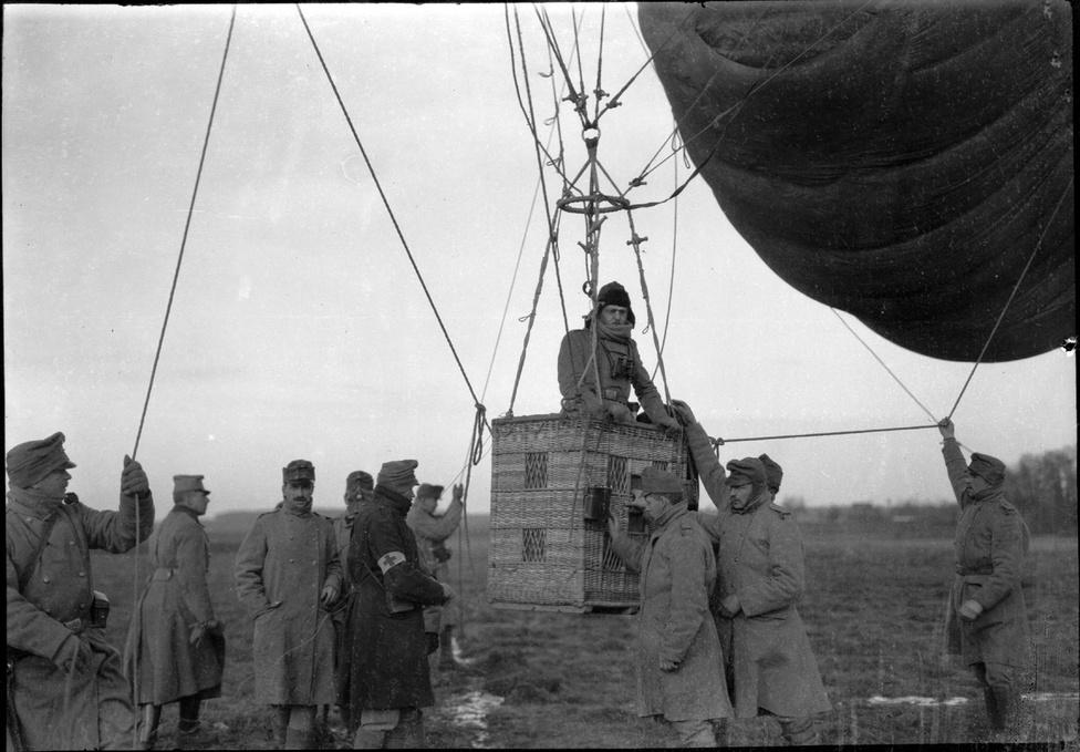 Harci léggömb az egészségügy szolgálatában, 1914-18.