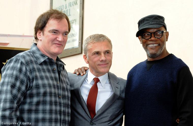 Quentin Tarantino, Christoph Waltz és Samuel L. Jackson