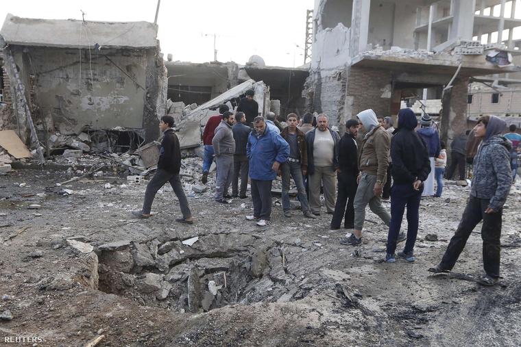 Rakkai utcakép egy légicsapás után