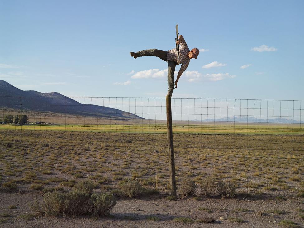 Tommy prérikutyákra vadászik, Big Springs Ranch, Oasis, Nevada 2012