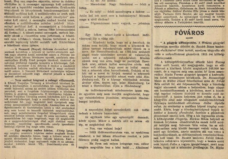 Olvasson bele a 100 évvel ezelőtti újságba az Arcanum archívumában - kattintson!