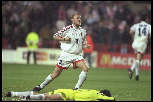 Robert Prosinecki gólöröme 1996. június 11-én, egy Horvátország-Törökország találkozón,Nottingham-ben.