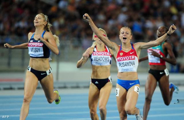 Julija Ruszanova a 2011-es vb női 800 méter elődöntőjében