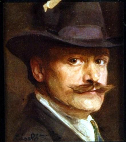 László Fülöp önarcképe az Uffiziben. Angliába azért települt át, mert elvette a sörgyáros Guiness lányát.