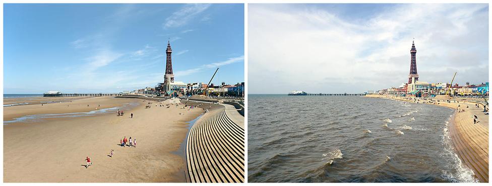 """""""A tenger elaludt fehéren,                         bíbor vitorla útrakél.                         Szirt, fügefák, torony a révben,                         idill, birkák bégetnek éppen -                         fogadj be engem, szűzi dél!""""                         - Nietzsche látszólag akár erről a partról is írhatta volna a """"Délen"""" című verset, ha nem tudnánk, hogy az év 364 napjában milyen kevés köze is van a csúf közép-angliai Blackpoolnak a Ligur-tengerhez."""