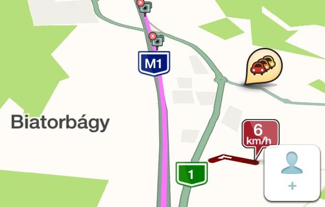 A célállomásig egy köztes megálló (rózsaszínű útvonal), azaz bonyolultabb utak is tervezhetők. Sajnos több állomást nem bír el a rendszer.