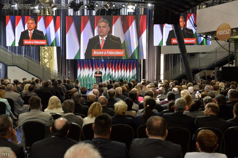 Orbán Viktor a Fidesz kampányértékelő rendezvényén
