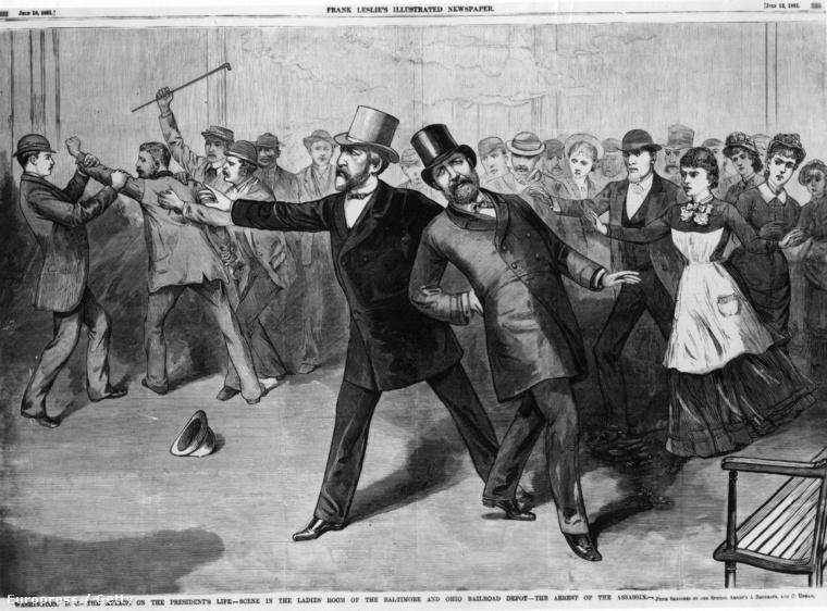 Illusztráció az elnök elleni merényletről