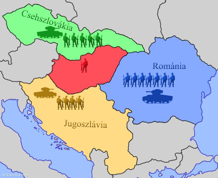 Magyarország és a kisantant haderőinek mérete és felszereltsége az 1920-as években.