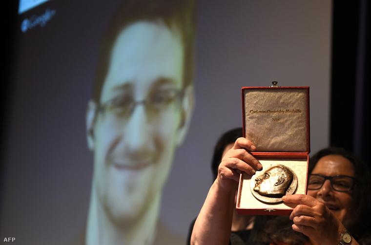 Edward Snowdent Ossietzky-érdeméremmel tüntették ki