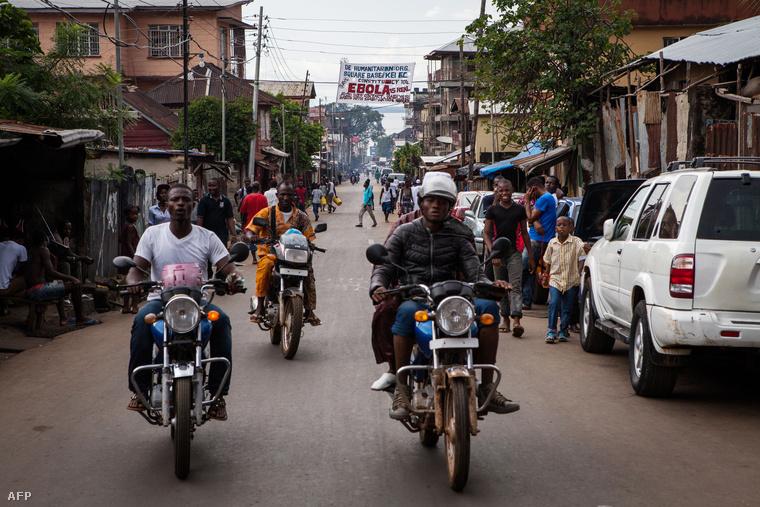 Freetowni utcakép