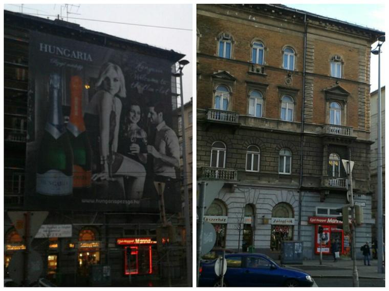 Ablak a múltba, ugyanaz az épület tegnap és ma