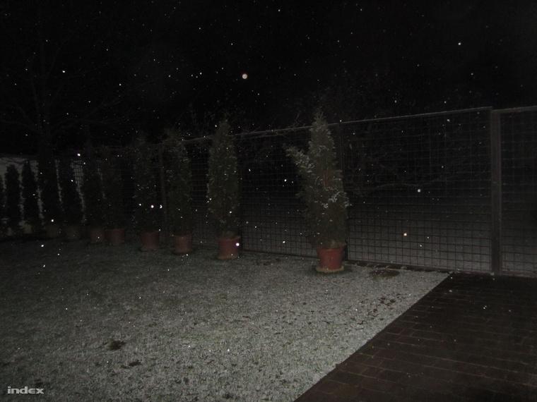 Szombathely mellett, Torony községben is havazik