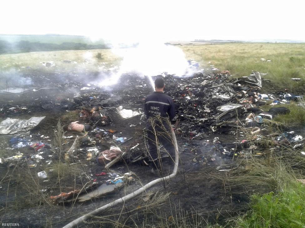Július 17-én Donyeck felett feltehetőleg oroszbarát szeparatisták lelőtték a Malaysia Airlines MH17-es járatát, amelyen 298 ember utazott Amszterdamból Kuala Lumpurba. A szeparatisták tagadták, hogy közük lenne a maláj repülőgép lelövéséhez, és azt is felvetették, hogy valójában az ukrán légierő lőtte le az utasszállítót. Az EBESZ-t is nagy nehezen engedték a roncsok közelébe. Kilenc holttestet még mindig nem tudtak azonosítani. Négy hónap alatt gyűjtötték össze az utasszállító roncsait, amiket a vizsgálatot folytató Hollandiába szállítottak (az utasok közül 196-an hollandok voltak).