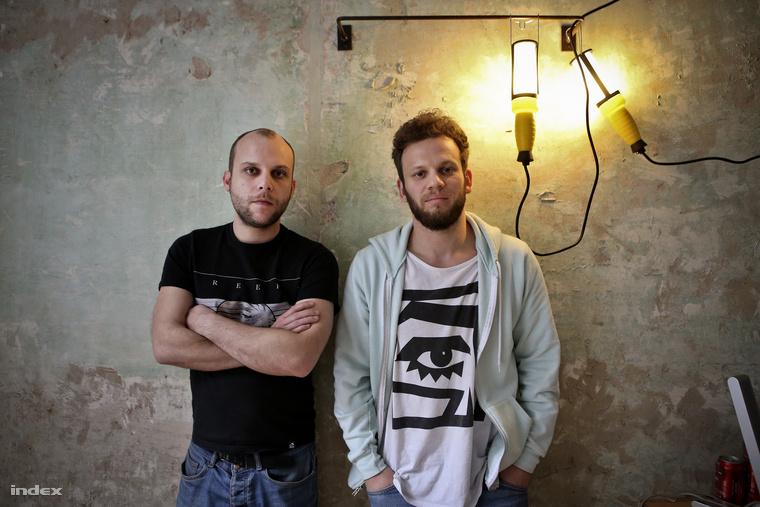 Balra Somló Dániel, jobbra Horváth Renátó