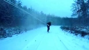 Terepjáró vontatta snowboard az új menőség