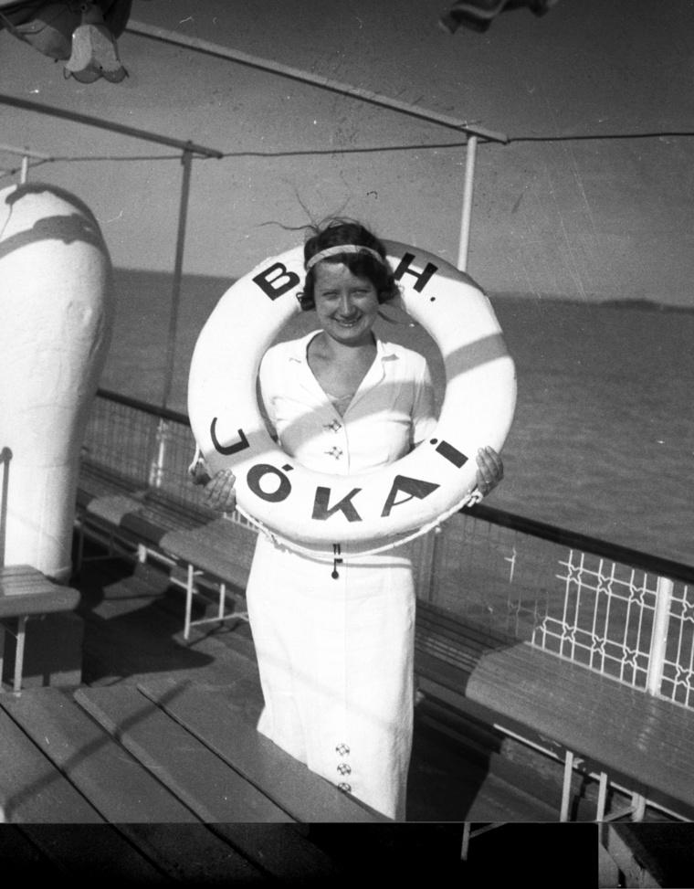 A Jókai csavargőzös fedélzetén a Balatonon