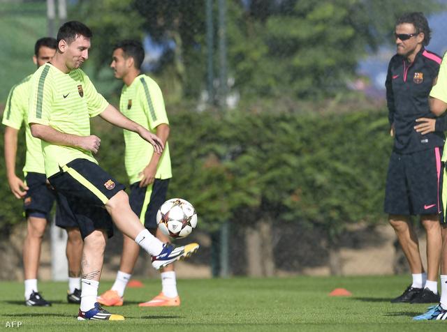 Lionel Messi és Luis Enrique