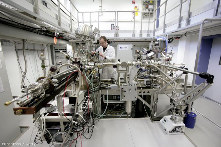 Nanoelektronikai kísérlet a németországi Jülich Kutatóintézetben