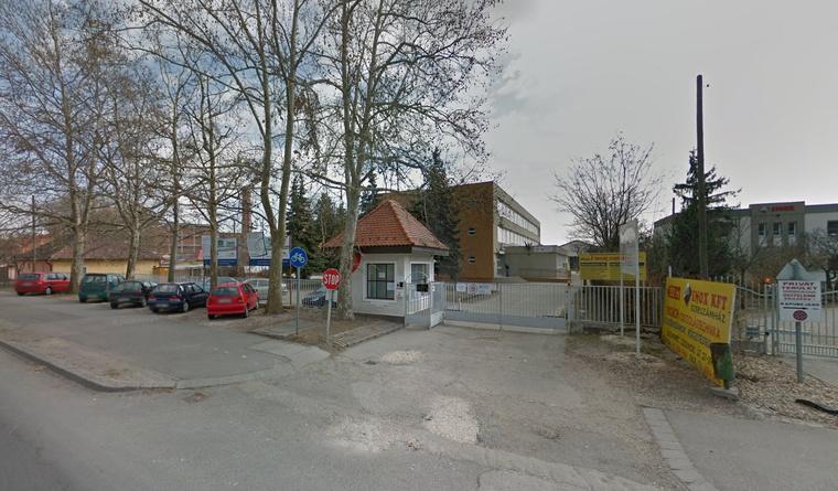 A kecskeméti inkubátorház épülete a Google utcatérképén
