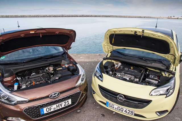 A Hyundainak egyelőre nincs olyan motorja, amelyik akár távolról is felvehetné a versenyt az Opel háromhengeres, benzines turbójával