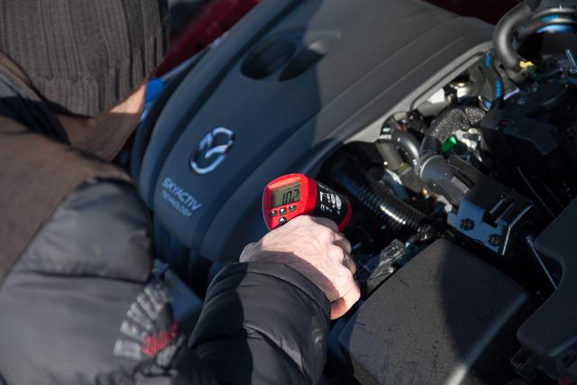 A motorhőmérséklet hihetetlenül fontos, minden indulás előtt ellenőriztük