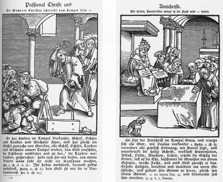 Lucas Cranach: Krisztus és Antikrisztus