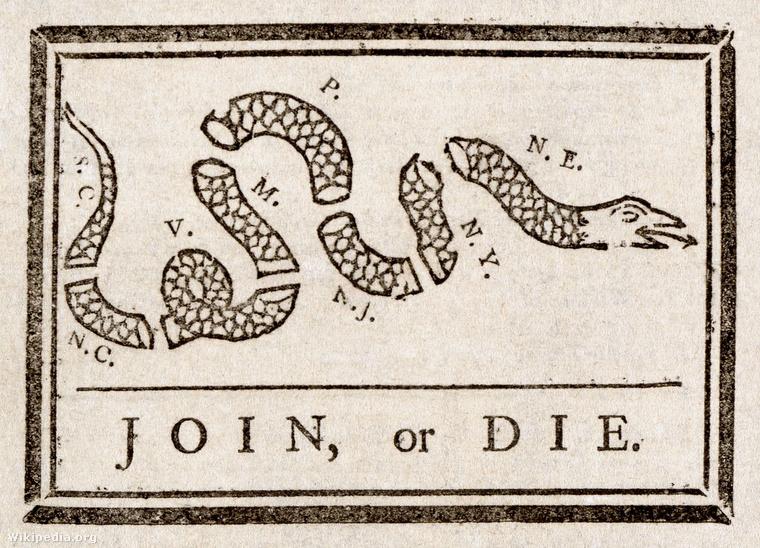 Benjamin Franklin: Egyesülés vagy halál