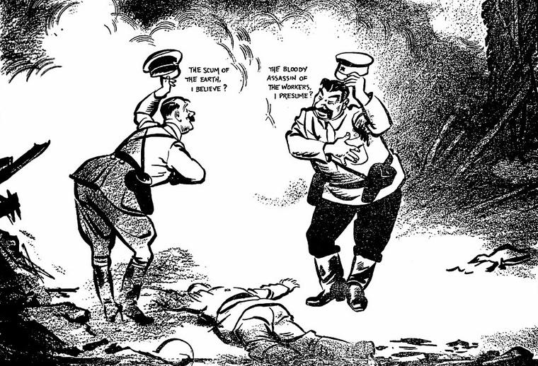 """""""A Föld söpredéke, ha nem tévedek?"""" """"A munkások véreskezű gyilkosa, ha jól sejtem?"""" (David Low)"""