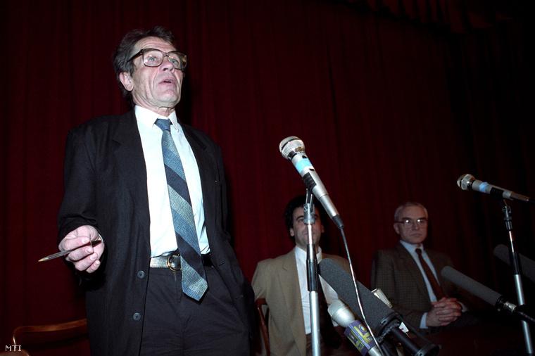 Hankiss Elemér, a Magyar Televízió elnöke, 1993-ban.