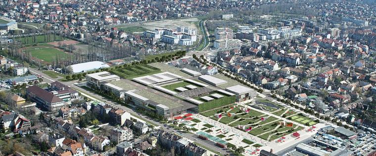 A felújítandó Bosnyák (azaz új Moszkva) tér látványterve.