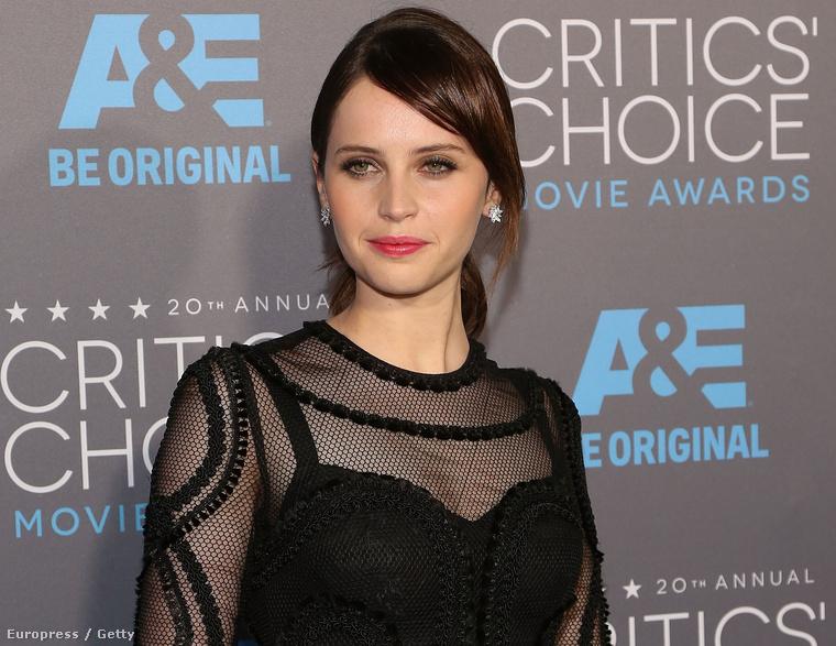 Felicity Jones a Critics' Choice díjkiosztón