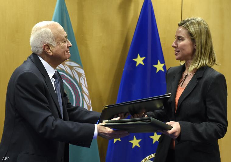 Nabil al-Arabi és Federica Mogherini