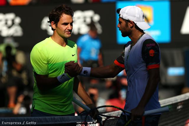 Roger Federer négy szettben nyert az olasz Simon Bolelli ellen az Australian Open második körében