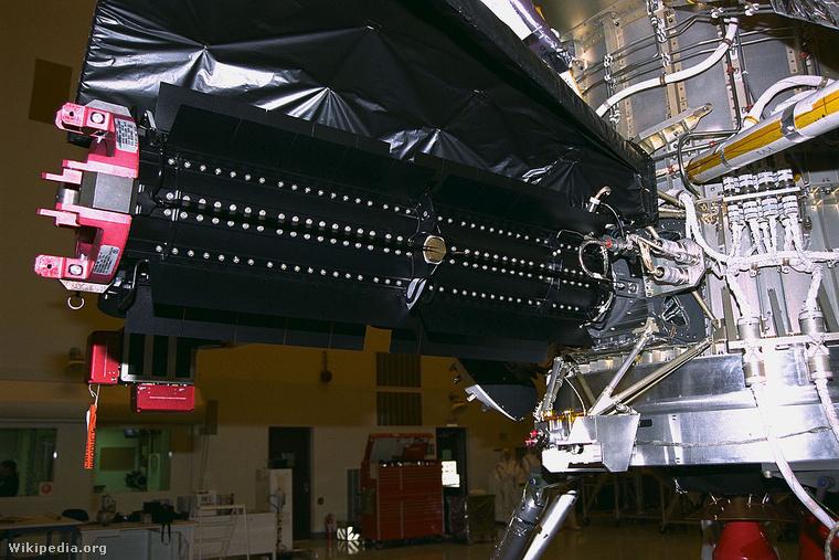 A Cassini űrszondán elhelyezett radioizotópos generátor.