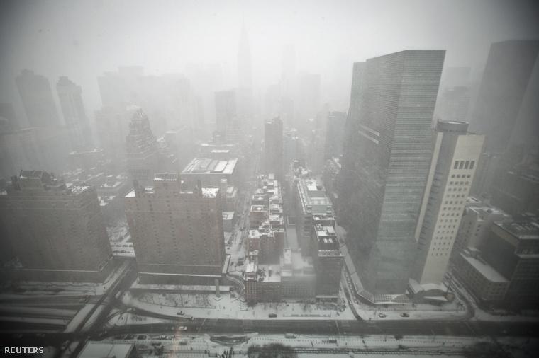 Manhattani látkép ma délután