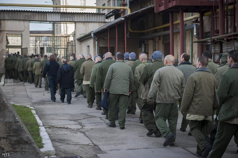 A Váci Fegyház és Börtön udvara 2014. december 5-én.