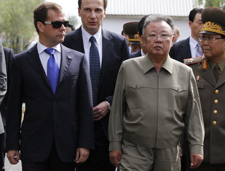 Kim Dzsongil Oroszországban 2011-ben