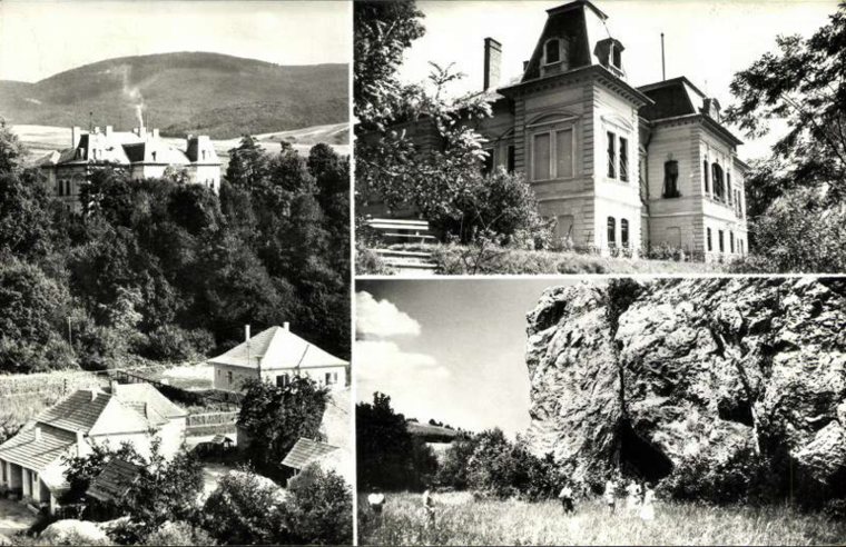 Dédéstapolcsány látnivalói a 60-as években: a barlang és a SZOT-üdülő, vagyis a kastély. Még több környékbeli képeslapért katt a képre!