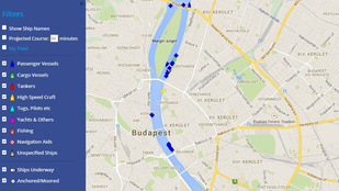Térképen követheti a budapesti hajóforgalmat