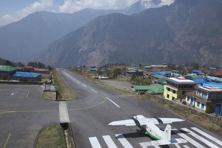 Lukla, Nepál.
