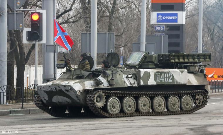 Sztrela-10-es csapatlégvédelmi rakéta az oroszpárti szeparatistáknál
